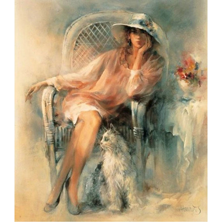 oneroom Oil Painting People Beauty and Dog Needlework,DMC Cross stitch,Embroidery kits,Printed Patterns Cross-Stitching,oneroom Oil Painting People Beauty and Dog Needlework,DMC Cross stitch,Embroidery kits,Printed Patterns Cross-Stitching,