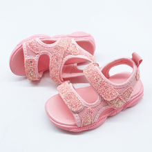 Glitter Shoes Sandals Children Baby Girls Shoes 2019 Shining Sandals Boys Summer Toddler Outdoor Princess Shoes For Girls Kids 2018 toddler girls princess crystal rhinestone sandals little kid glitter sequin pumps big children pageant dancing dress shoes