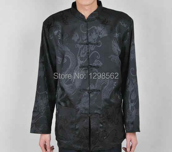 4 色 blackredblueMen ドラゴン hostclothing 制服武道太極拳 chicoat 男性中国の伝統的な唐スーツ
