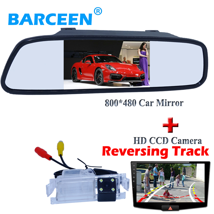 все цены на Wire+Dynamic track line car rear view camera+car mirror 4.3