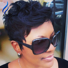 Short Hair Wigs For Black Women Glueless Full Lace Wigs Brazilian Hair None Lace African American Bob Wigs Short Bob Lace Wigs