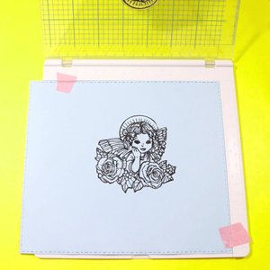 "Image 5 - Big size Stamping Tool 20.3x20.3cm(8x8"")   Perfect Positioning & Stamping for Clear Stamps"