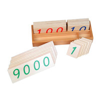 Wooden Montessori Math Toys Number Cards 1 To 9000 Wood Preschool Educational Learning Toys For Girls Birthday Gift E2264Z