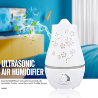 Ultrasonic Air Humidifier Essential Oil Diffuser LED Light Household 2 4L Humidifier Purifier Home Decor With