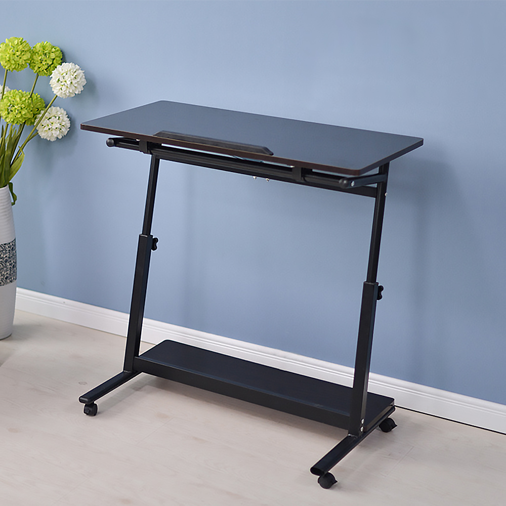 laptop stand rolling cart foldable portable mobile height