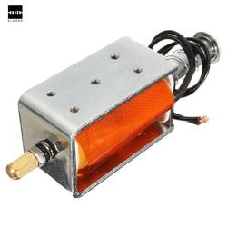 Новый Электрический 35 мм длинноходный push-соленоид тяги DC12v Малый электромагнитные Электрический магнит прочный в использовании