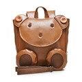 борьбе потерянный Милый маленький рюкзак из мягкой кожи игрушка в форме медведя для детей в возрасте от 0-3 лет Ранец для мальчиков и девочек