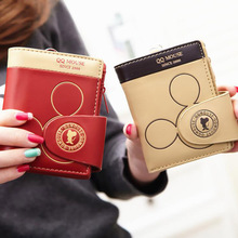 Cute Mickey Mouse Leather Wallet for Women