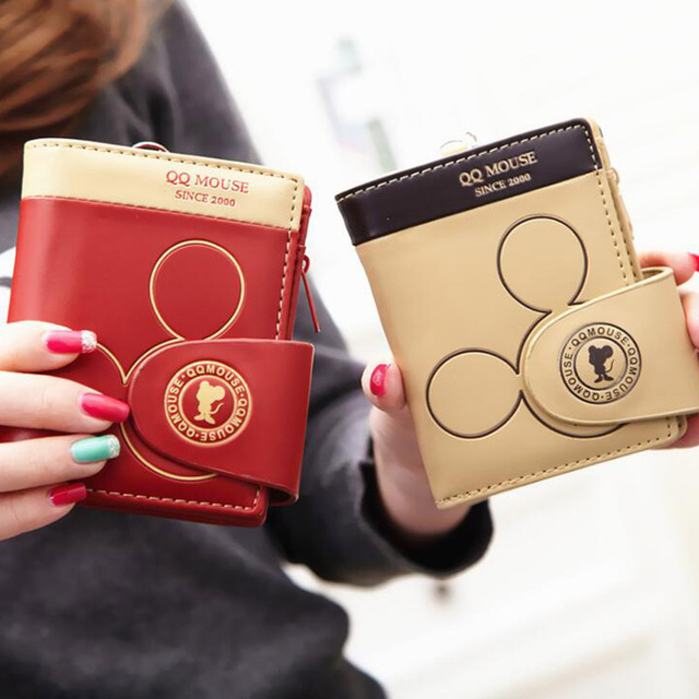 Mickey cute coin purse hasp card holder wallets