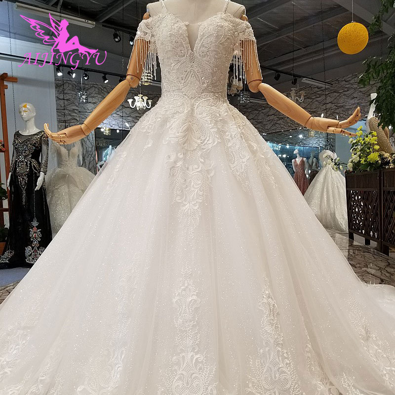 AIJINGYU White Ballroom Dresses Luxury Ball Special Occasion Lades Women Modest Gown Finder Wedding Dress Online Store