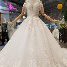 018650fb4 AIJINGYU blanco vestidos de baile de lujo bola ocasión especial Lades  modesta vestido de boda de tienda en línea