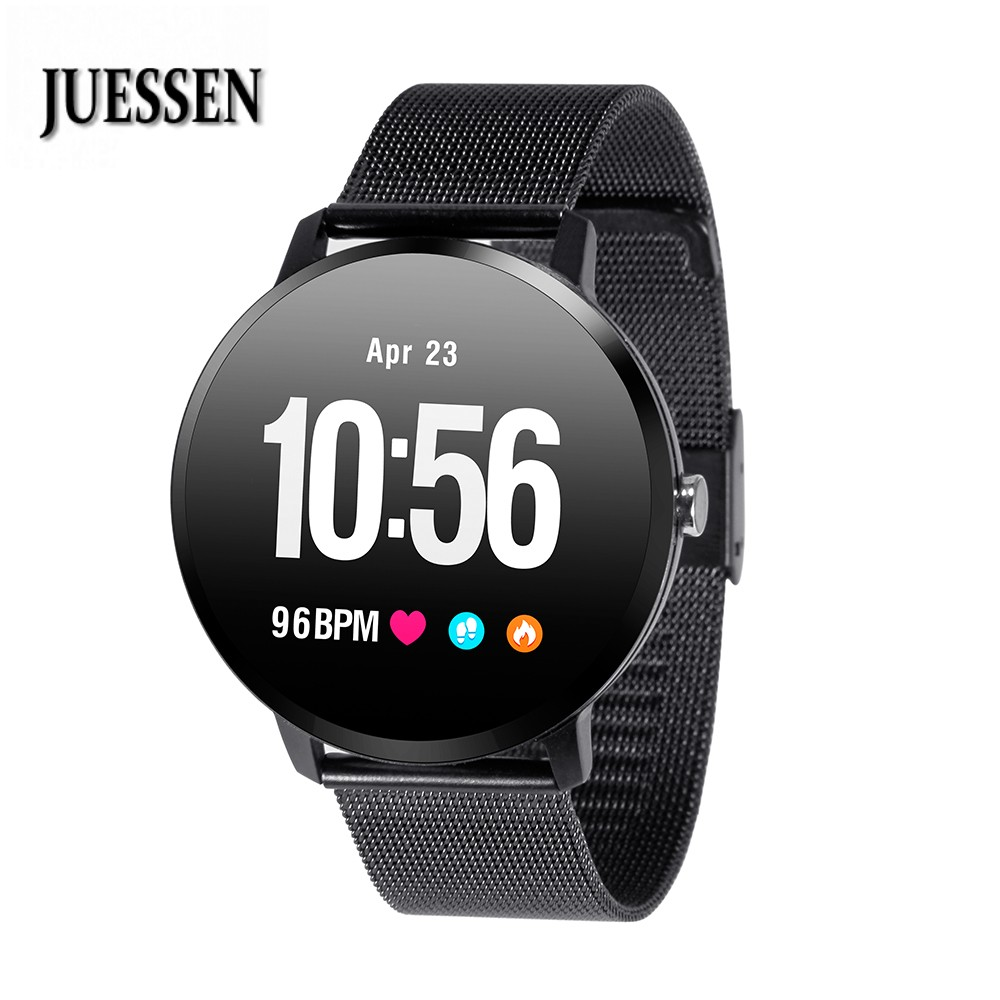 JUESSEN V11 Smart Watch IP67 Waterproof Tempered Glass Activity Fitness Tracker Heart Rate Blood Pressure Men Women Smartwatch