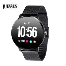 JUESSEN V11 Смарт-часы IP67 водонепроницаемое закаленное стекло активности Фитнес трекер сердечного ритма крови Давление Для мужчин женские умные часы