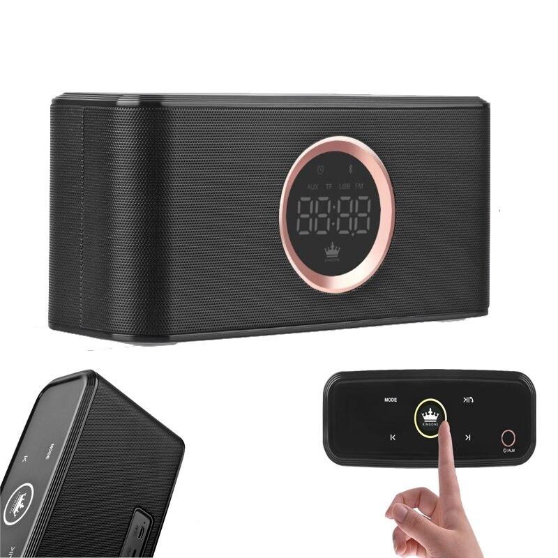 KINGONE K108 Portable Bluetooth haut parleur main libre Bluetooth 4.2 barre de son Support TF carte FM stéréo musique Subwoofer Super basse-in Portable Haut-parleurs from Electronique    1