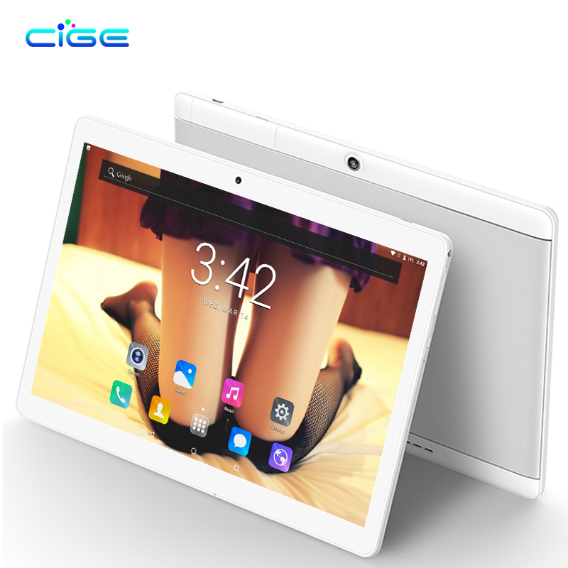 CIGE Super 10.1 inch tablet Android 7.0 Octa Core 4GB RAM 32GB 64GB ROM 8 Cores 1280*800 IPS Screen Tablets 10.1 Phone Tablets 2018 newest octa core 8 cores 10 inch tablet pc 4gb ram 64gb rom android 7 0 dual cameras 5 0mp 1280 800 ips phone tablets gifts