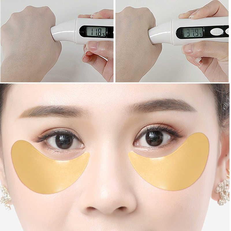60 個ゴールドコラーゲンアイマスクダーク Dircles 削除しわアイバッグホワイトニング睡眠マスク保湿アイパッチ目フェイスケア