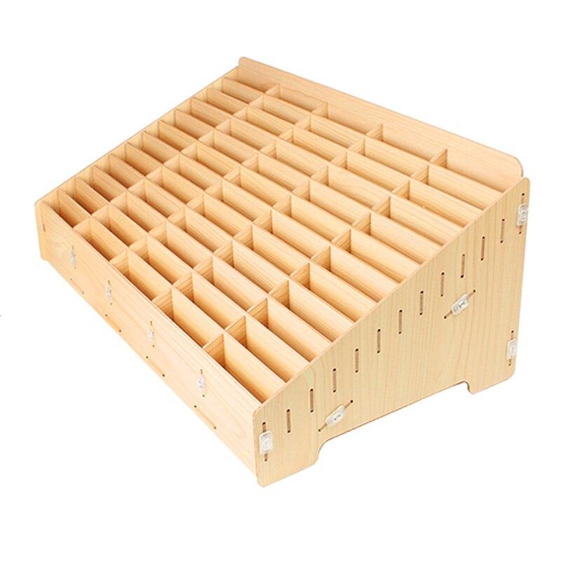 Wooden Mobile Phone Bracket Management Storage Box Desktop Office Meeting Grid Multi Cell Phone Rack Shop Display