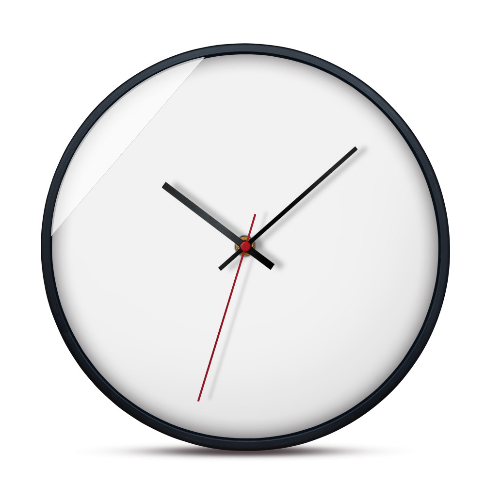 Modern Nordic Wall Clock Minimalist White Hanging Watch Bedside Mute Clocks Kitchen Home Decor In From Garden On