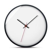 Modern Nordic Wall Clock Minimalist White Hanging Clock Watch Wall Bedside Mute Clocks Kitchen Wall Clocks Home Decor