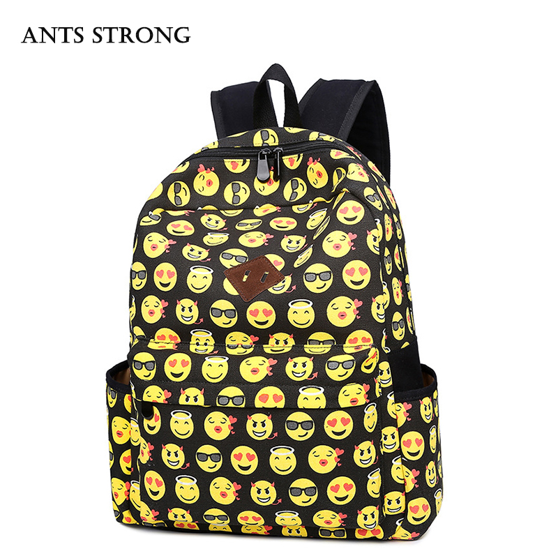 ANTS STRONG men and women canvas shoulder bag Solid color fashion student bag leisure travel backpack