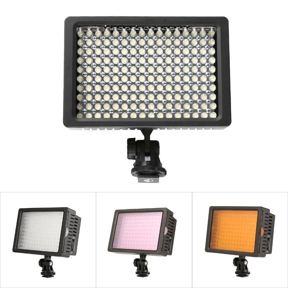 160 led de vídeo luz de la Cámara ajustable 3200 K 5500 K fotografía DSLR foto luz para Canon Nikon Sony y cámara DV comcorder