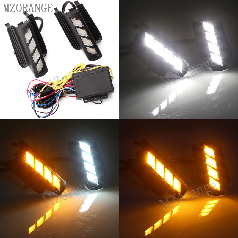 MZORANGE LED Daytime Running Light for Toyota Prado 120 LC120 GRJ120 for Land cruiser 2003~2009 Fog lamp drl bumper light newest led daytime running light for toyota prado 120 lc120 grj120 2003 2009 fog lamp drl bumper light accessories parts