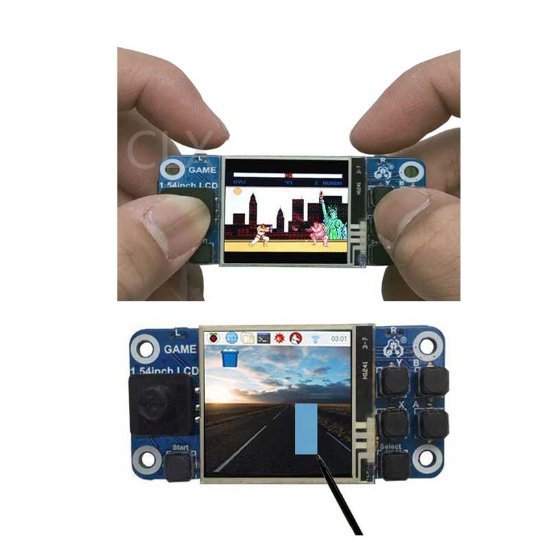 Raspberry Pi Game Zero W/2B/3B+ 1.54inch Mini LCD Touchscreen