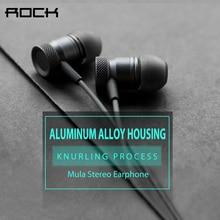 ROCK Metal Earphone Heavy Bass Headset Noise Canceling Earbuds for Mobile Phone for iPhone / iPad / xiaomi / Samsung Earphone
