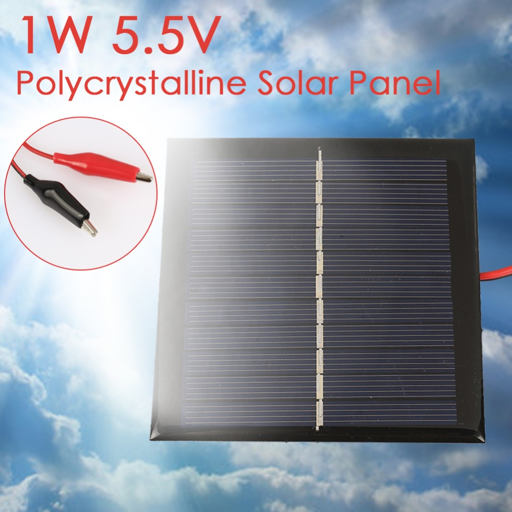 5.5V 1W Flexible Polysilicon Solar panel DIY solar Cells Charger Suitable for low-power 3.7V 5V appliances