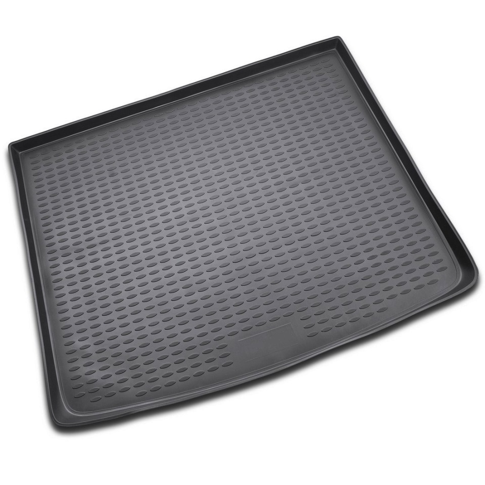 Car trunk mat for Volkswagen Touareg 2003-2010 1-generation Element NLC5101B13 interior black leather red stitches floor mat carpet for volkswagen touareg 2003 2010 5 door sedan