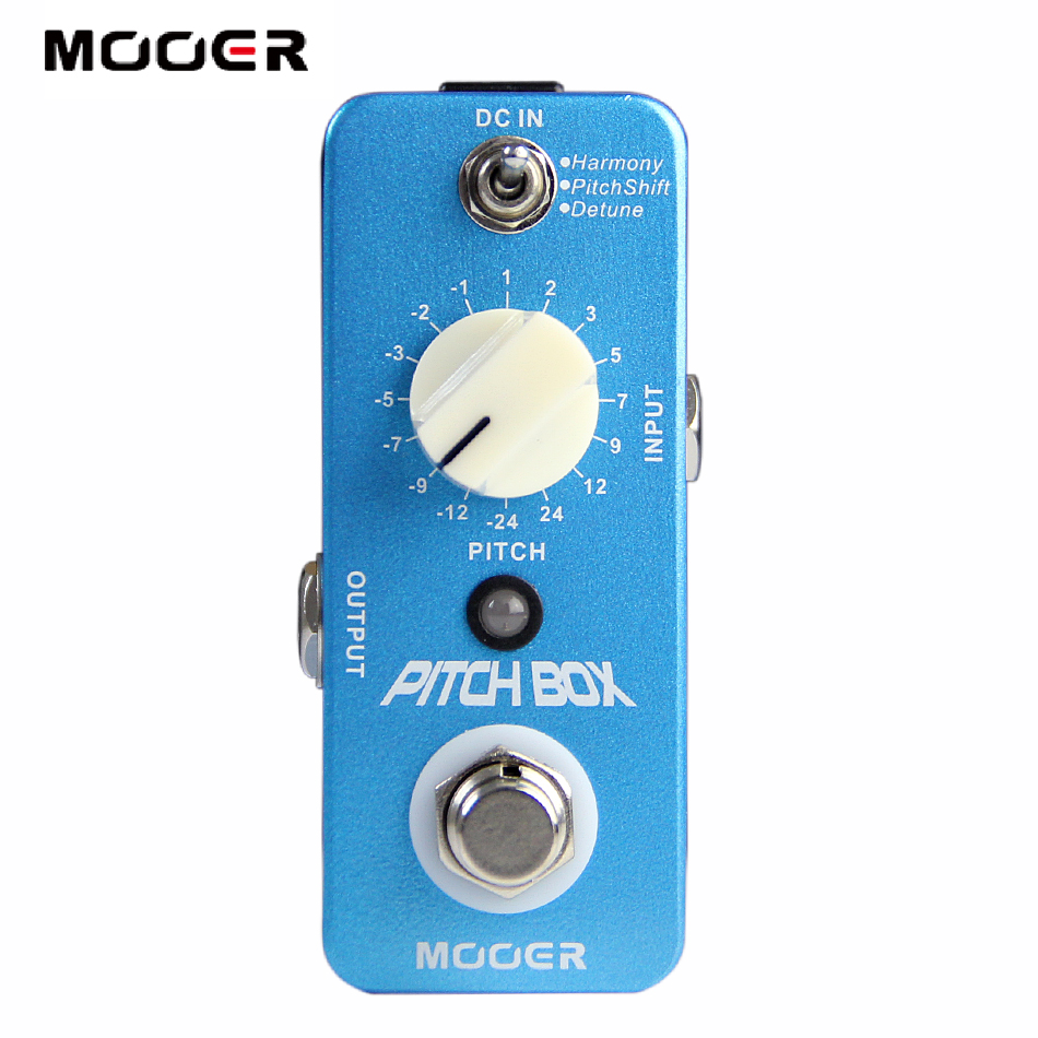 Mooer Pitch Box Harmony/Pitch shifting Pedal Compact Pedals True bypass Full metal shell Guitar effect pedal amo 3 mario bit crusher electric guitar effect pedal aroma mini digital pedals full metal shell with true bypass