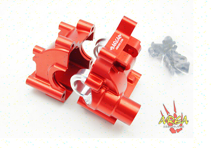 Area Rc Rear Alloy gear box Diff for LT 5T red and silver can choose area rc rear hub carrier for losi 5t 5ive t