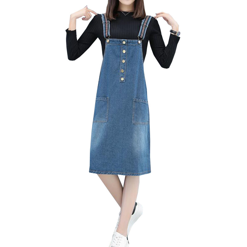 Detail Feedback Questions about Vintage Summer dress Women Denim Dress  Denim Sundress Girls Casual Loose Overalls Female plus size 5XL super Jeans  Dresses ... 387ec058661a