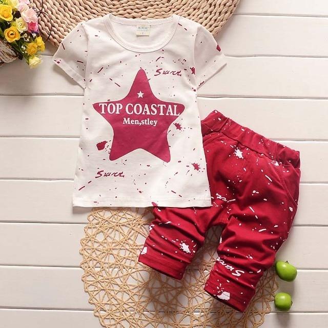 New Summer Baby Boys Clothing Set For Kids Star T-Shirt+Short 1