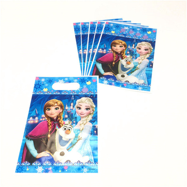 191b85659e16a Disney Frozen Queen Elsa Theme Plastic Bag for Snack Candy Jewelry Wedding  Kid Birthday Small Loot Bag Gift Bag Supply 6pcs lot