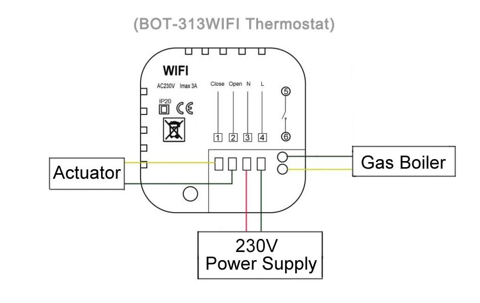 beok blue backlight hand and wifi thermostat for gas boiler program energy  save heating temperature regulator termostato