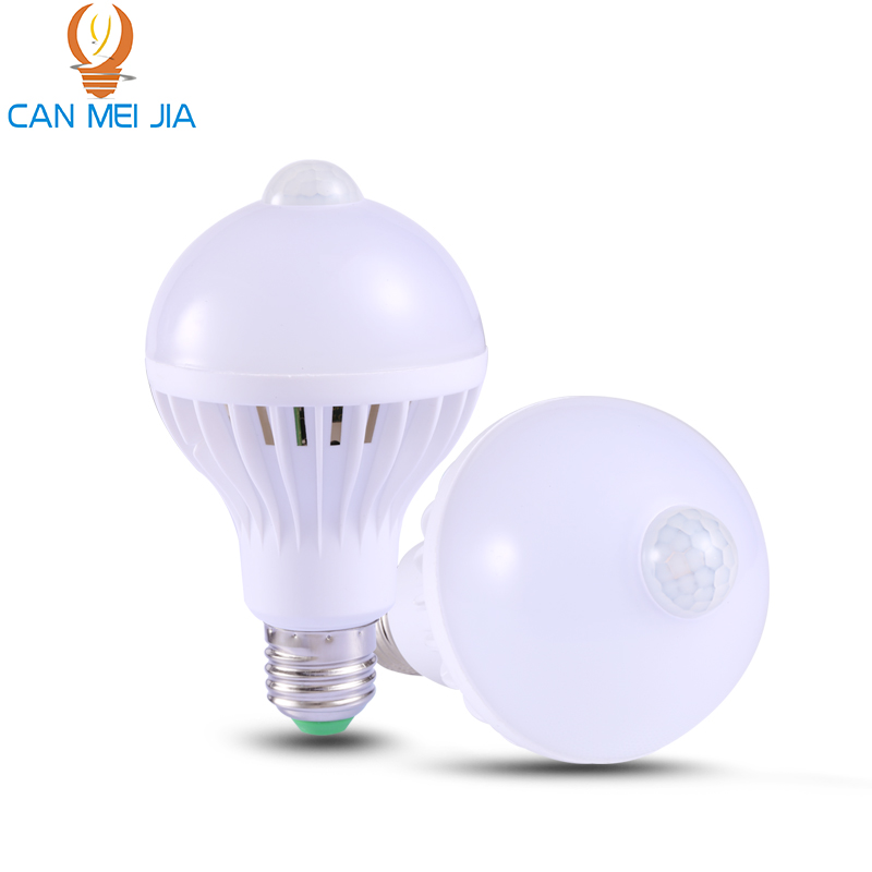 CANMEIJIA E27 Led Bulb Lights Smate Auto PIR Motion Sensor Bulb 110V 220V 5W 7W 9W