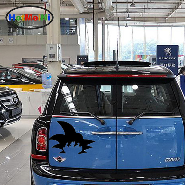 Hotmeini classic cartoon image the generous fashion hair son goku funny car sticker bumper kayak car