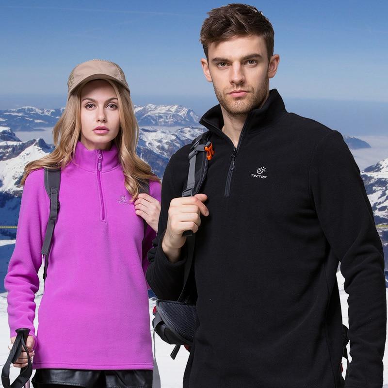 الرجال النساء الشتاء الصوف معطف طويل الرقبة في الهواء الطلق الرياضة Tectop معاطف التنزه التخييم التزلج الرحلات الذكور الإناث السترات VA081