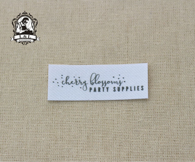 2efb601bf50f US $8.0 |60 Custom logo labels, Organic Cotton Name Labels sew on name tags  (clothing labels) for children's clothing-in Garment Labels from Home & ...
