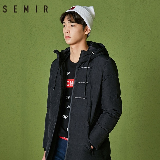 SEMIR down jacket for men thick warm winter long jacket down jacket for man fashion clothes mens windproof casual outerwear