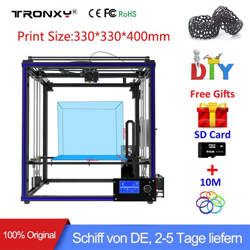 High-precision Tronxy X5S 3D Printer Kit Metal Large printing size Desktop 3d DIY Kit Aluminium Profile Frame 12864P LCD Screen все цены