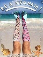 2016 Autumn Winter Long Socks Women Stockings Mermaid Funny Christmas Knee Socks Calcetines Harajuku Meias Chaussette Femme