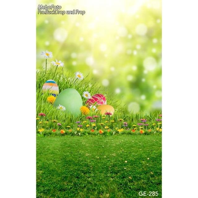 Spring Flowers Easter Eggs Kids Photography Backdrops Fotografia
