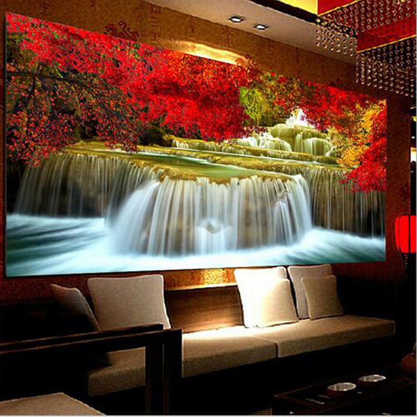 Large 5d Diamond Embroidery,Diy Diamond Painting Landscape ...
