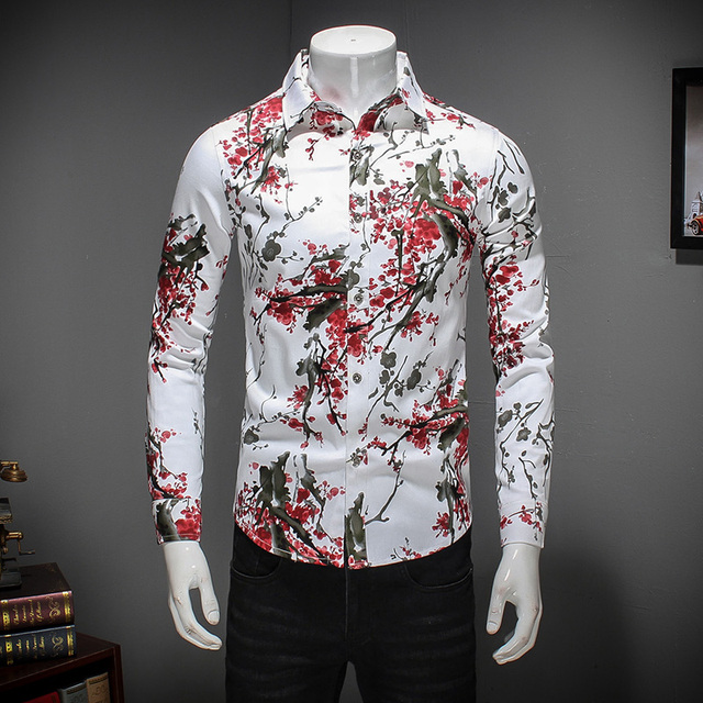 2bfe3b0dca12 Buy mens floral shirts long sleeve - 61% OFF! Share discount