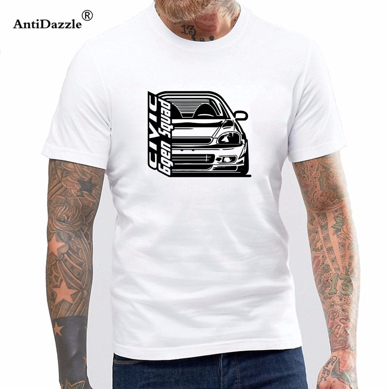 Antidazzle 2017  Men'S Hot Sale 100% cotton O-Neck T-Shirts Civic 6Gen T-Shirt Mens Short Sleeve TYPE-R 6RD Car Jdm Tee Shirt