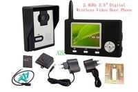2.4 ГГц Беспроводной цифровой видео домофон глазок Телефонный звонок и обсуждение 3.5 TFT HD indoor Мониторы Ночное видение Дверные звонки Камера