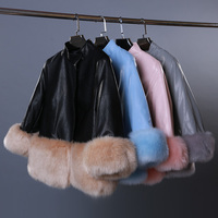 2016 Sale Limited Coat Autumn And Winter Large Size Fox Fur Haining Pu Leather Paragraph Female