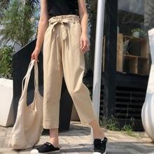 Женские брюки-карго женские Spodenki Damskie Pant Повседневные брюки без шнуровки с эластичной завыш